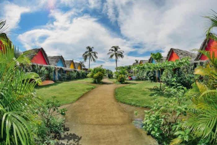 Anlage mit tropischem Garten