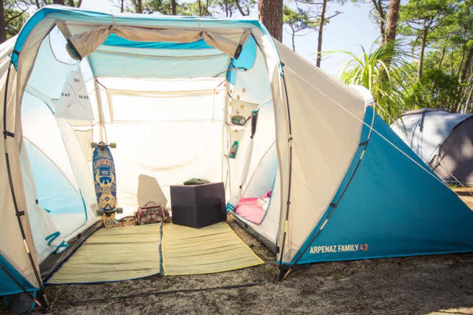 Zelten auf Campingplatz