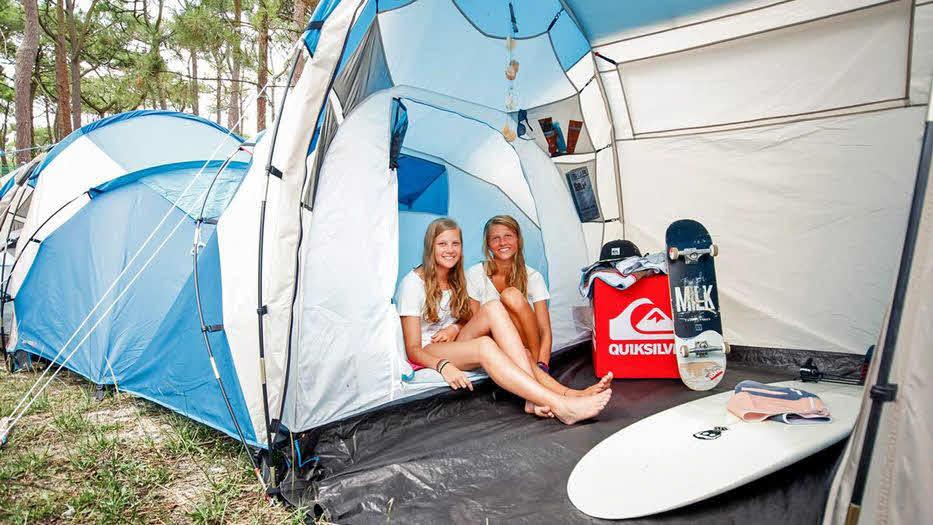 Jugend Surfcamp Zelte