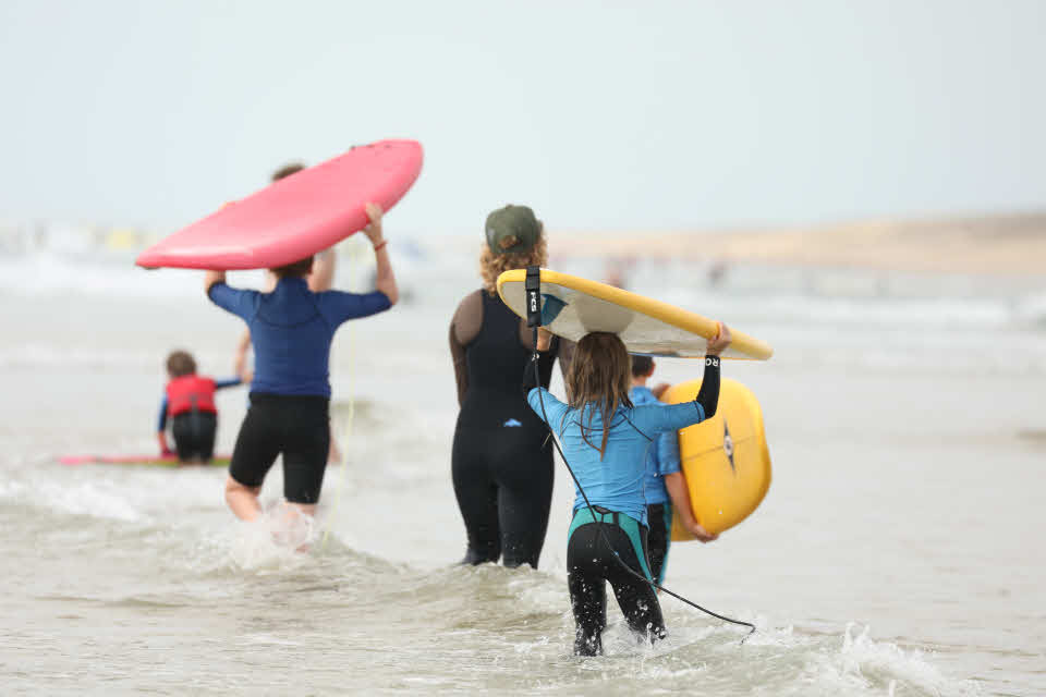Surfkurs Familie St. Girons