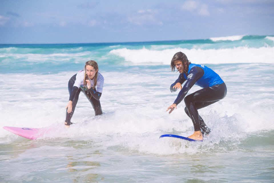 Surfen in Moliets Surfschule