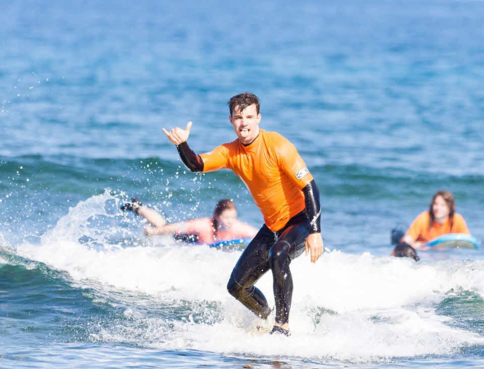 Surfen lernen Las Americas