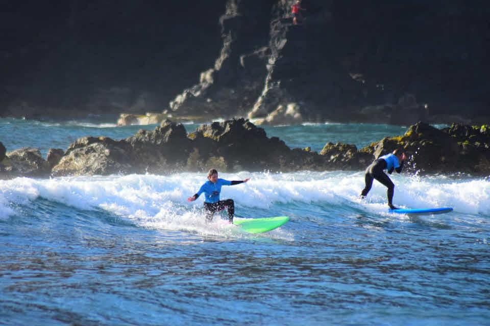 Wellenreiten auf Teneriffa