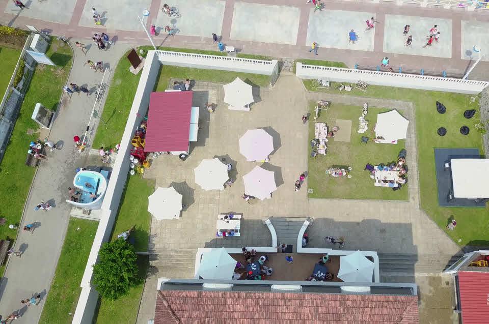 Surfcamp Ribadesella von oben
