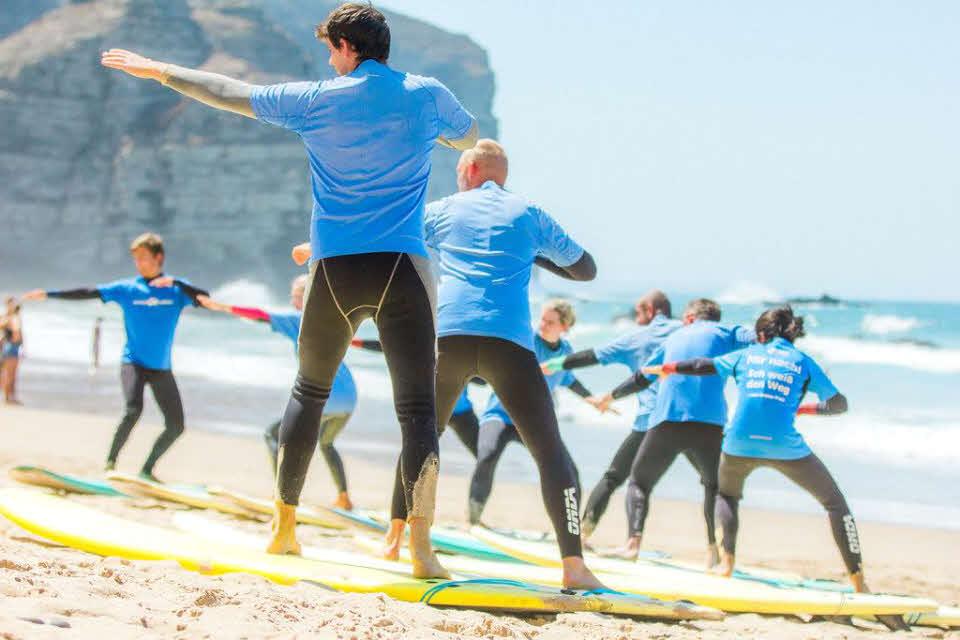 Surfkurs für Anfänger Algarve