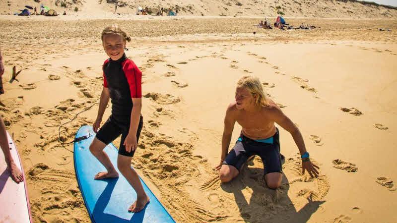 Familienkurse Wellenreiten Moliets