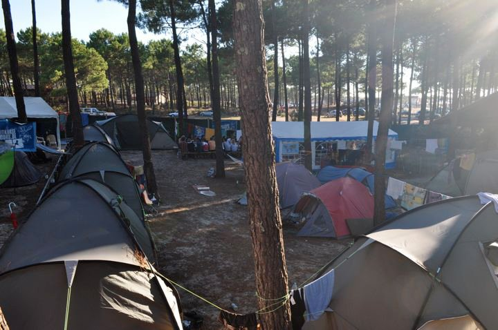 Zeltcamp in Carcans Plage