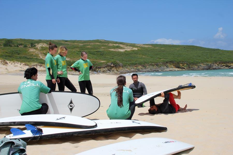 Anfänger Surfkurs Galizien