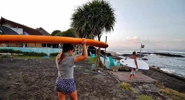 Surfen lernen Canggu