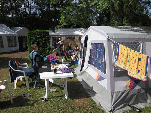 Zeltunterkunft Familien Surfcamp