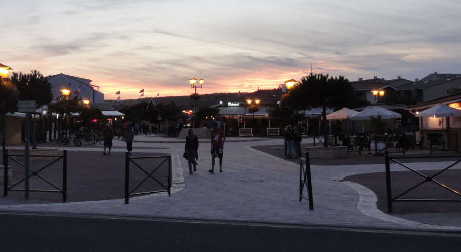 Abends in Carcans Plage