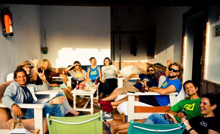 Surfcamp Lounge Bereich