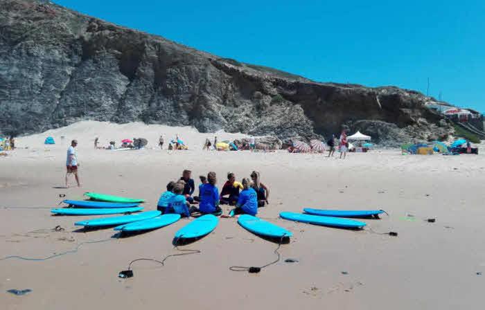 Urlaub Familie Surfen