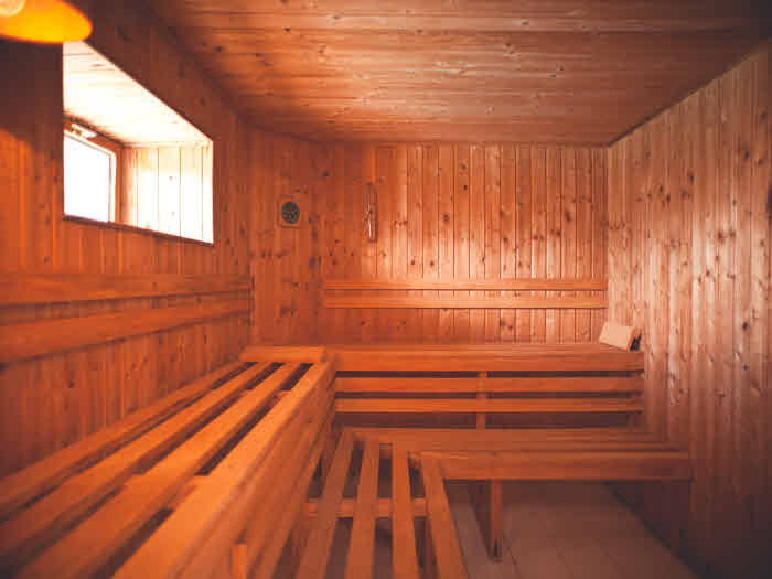 Sauna in der Surf Villa