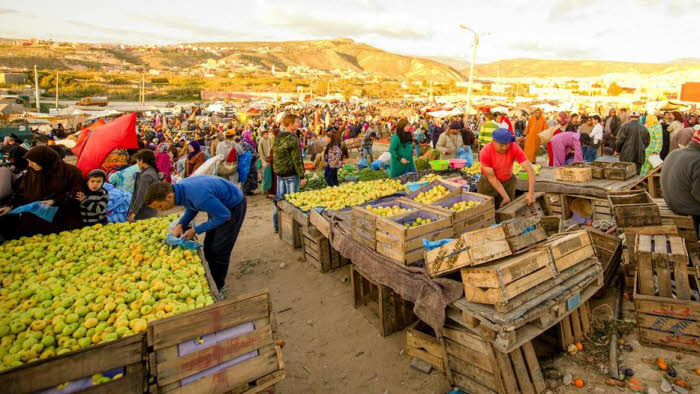 Tamraght Wochenmarkt Marokko