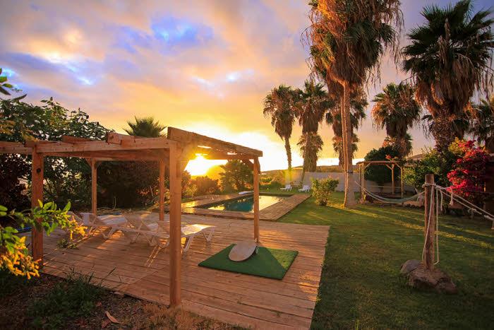 Sonnenuntergang vom Surfcamp